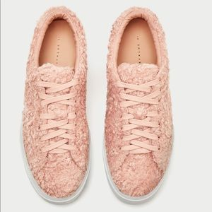PLATFORM PLIMSOLLS WITH FAUX FUR